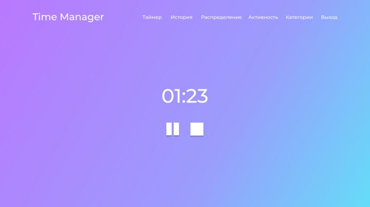Time Manager - веб-приложение для тайм-менеджмента