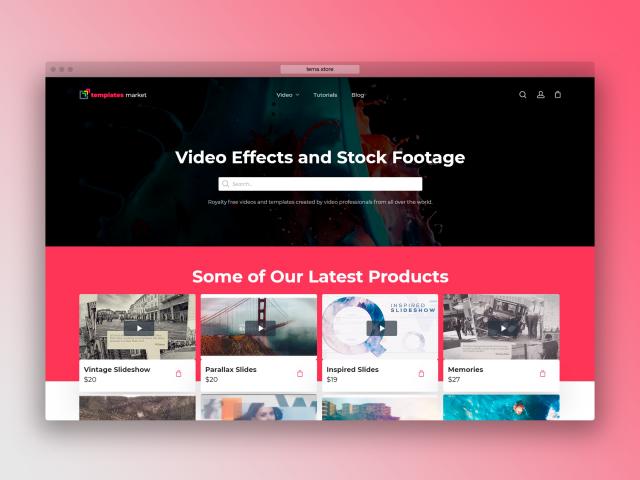 Продажа шаблонов видео эффектов