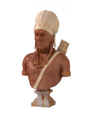 3D модель бюста  Индейца