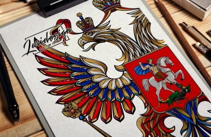 Фреска Герб РФ