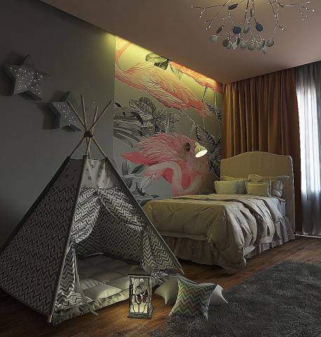 Визуализация детской комнаты. Дизайн с просторов интернета