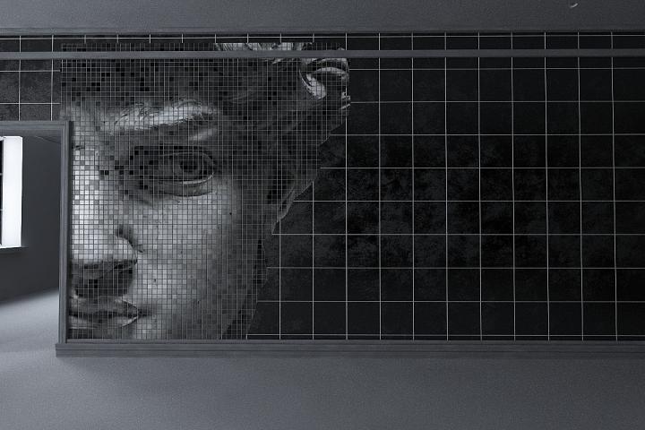 Визуализация стены с отделкой