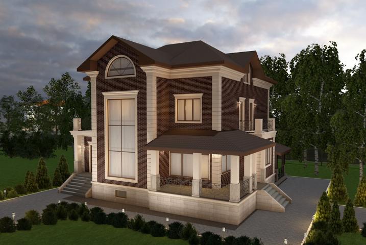 Дизайн-проект фасада дома в Подмосковье