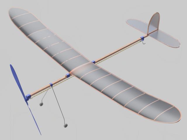 Самолет на резиномоторе