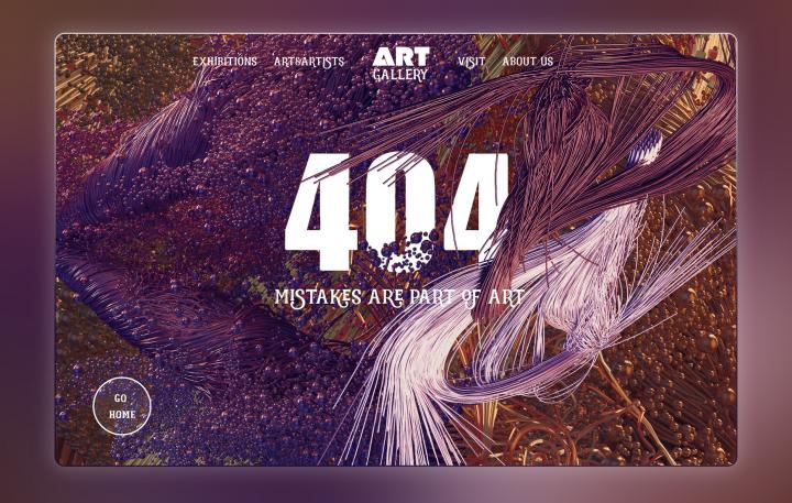 ERROR 404 Page Design