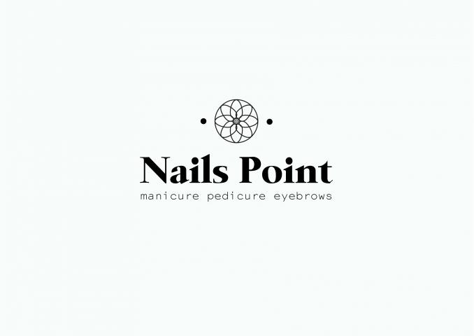 Маникюрный салон Nails Point   branding and logo