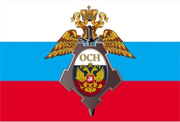 Флаг с логотипом (вектор)
