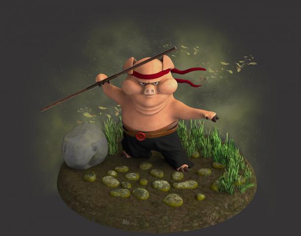3d модель персонаж, собственный проект
