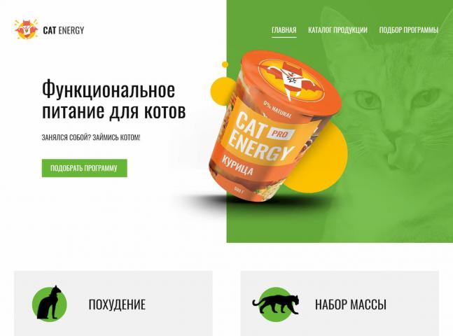 Тренировочный проект - интернет-магазин фитнес еды для кошек