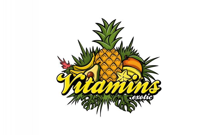 логотип и паттерн для Exotic Vitamins