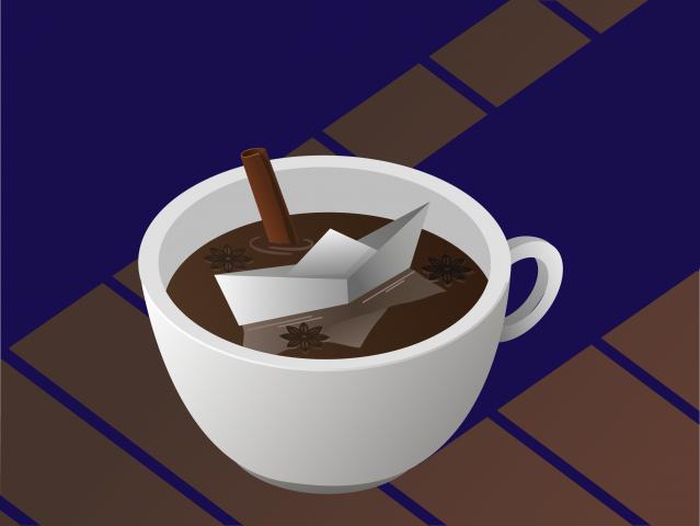 Чашка в изометрии