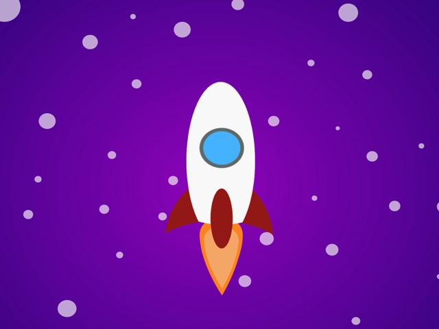 Анимация ракеты.