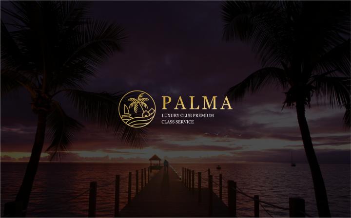 логотип для туристичесой компании класса люкс Palma