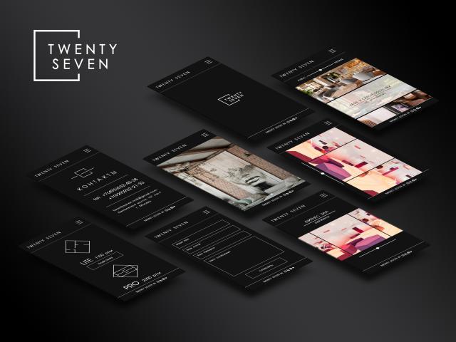 """Дизайн мобильной версии сайта  бюро """"Twenty Seven"""