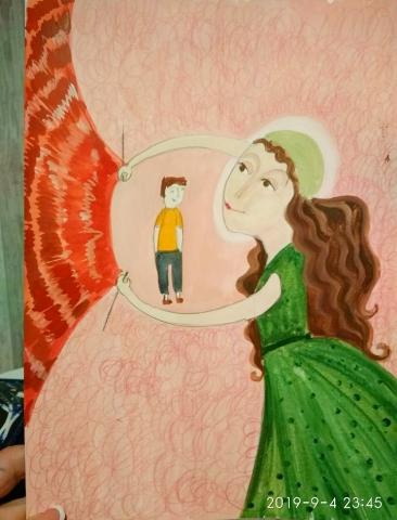 иллюстрация к книге стихов о больных детях и их мамах