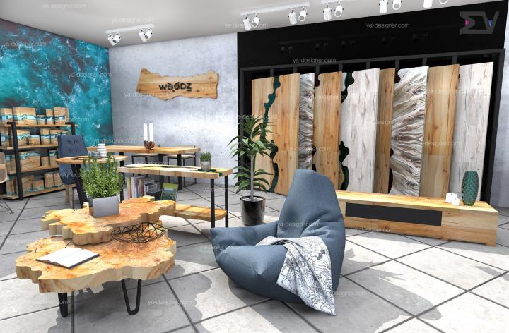Оформление магазина по продаже мебельных изделий