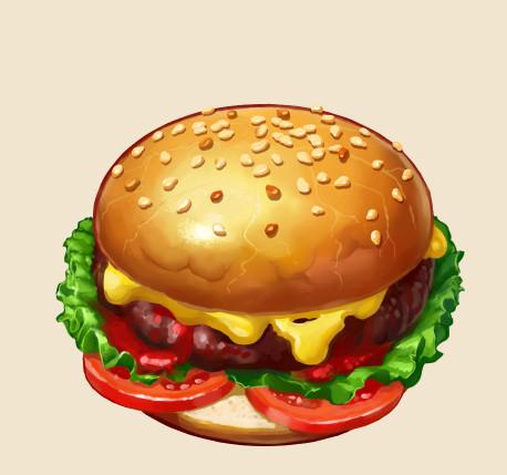 Бургер. Иконка.