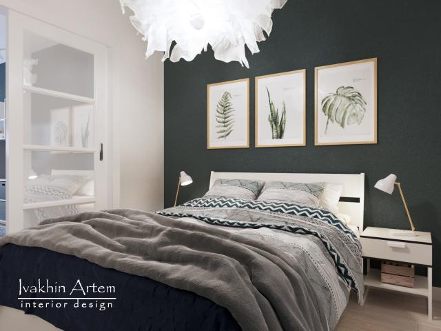 дизайн гостевой спальни в скандинавском стиле