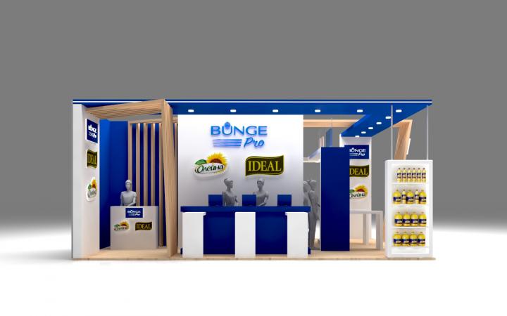 Разработка дизайна выставочного стенда для компании BUNGE