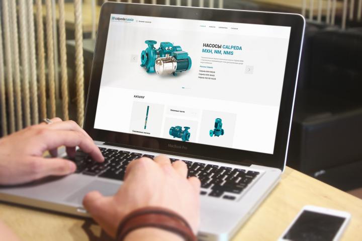 Сайт по продаже насосов Calpeda