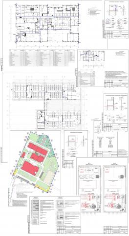 Система охранного телевидения трех зданий комплекса и периметра