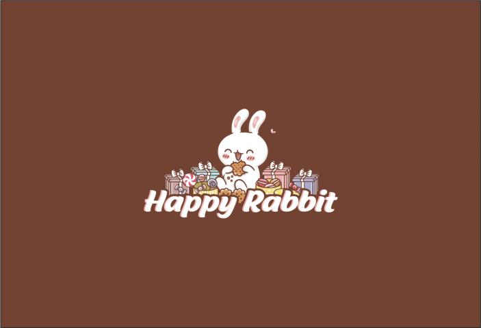 логотипа для happy rabbit