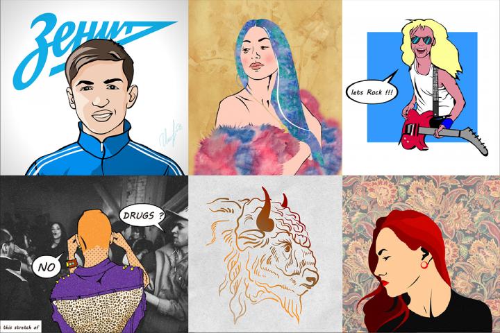 Портреты, иллюстрации, комиксы.