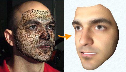 Нейросеть создающая 3D модель лица по фотографии