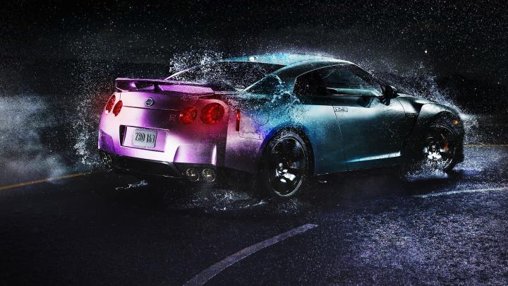 Nissan GT-R - Обработка фото