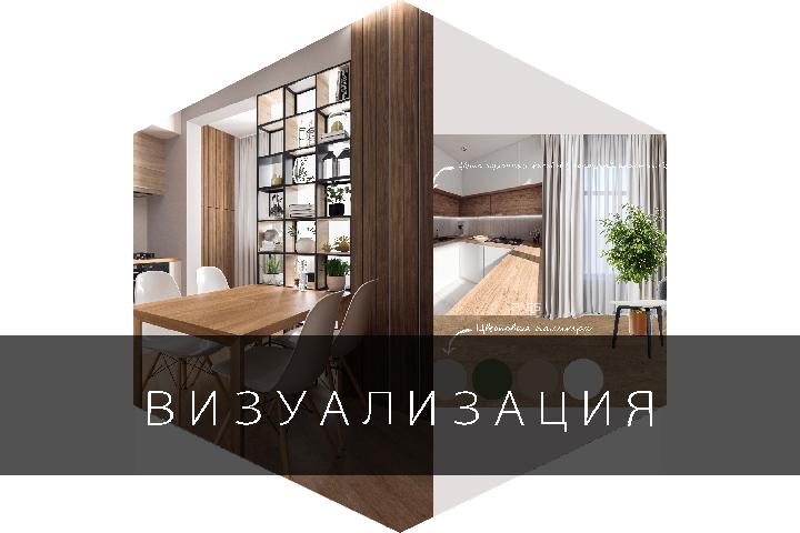 Дизайн-визуализация 350 руб/м2