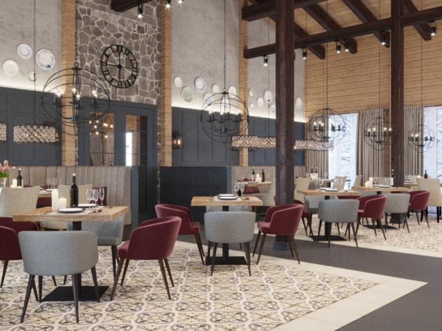 Ресторан отеля в Карелии