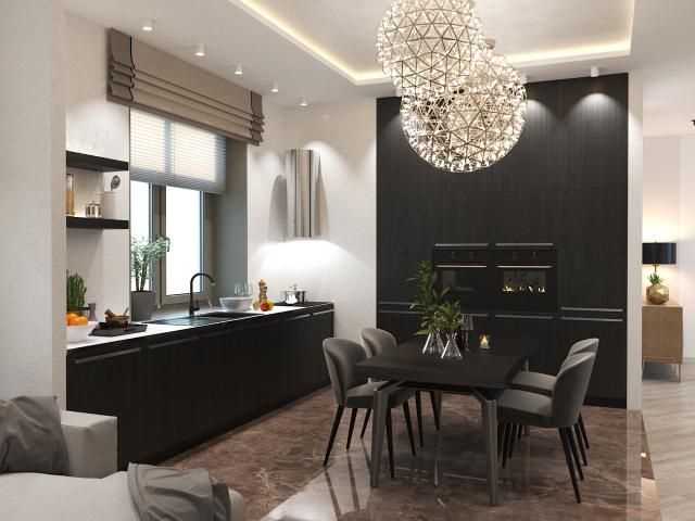 Кухня - гостиная в современном стиле