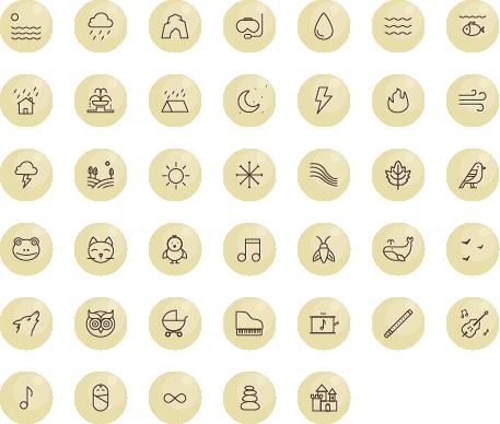 Сет иконок для мобильного приложения