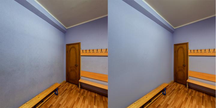 Чистка стен, потолка в помещении
