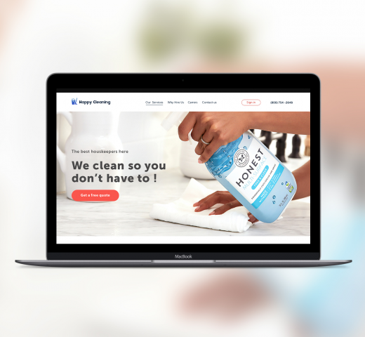 Дизайн сайта для онлайн сервиса