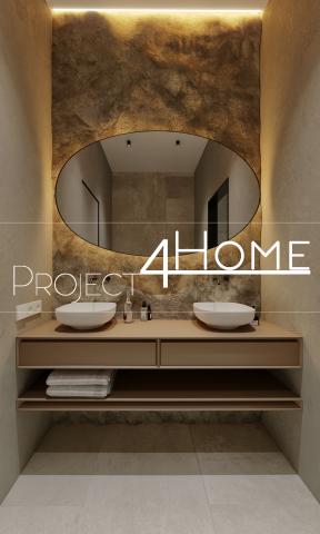 Проект коттеджа 272 м2 (интерьер 1-го этажа) - 1-й санузел