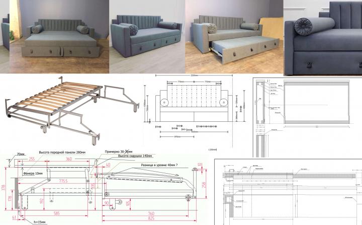 Разработка, дизайн, проектирование мягкой мебели
