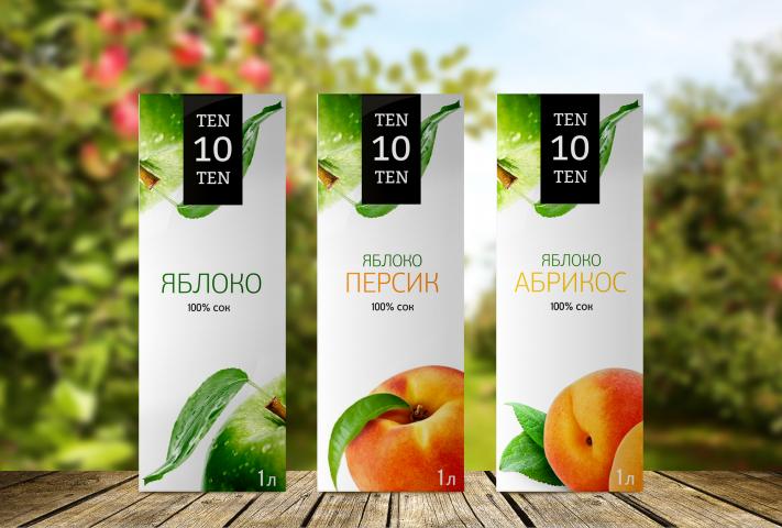 Дизайн упаковки для сока