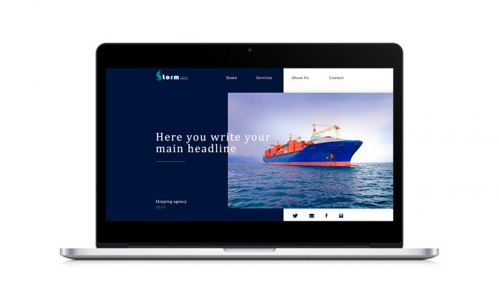 Лендинг для портовой организации