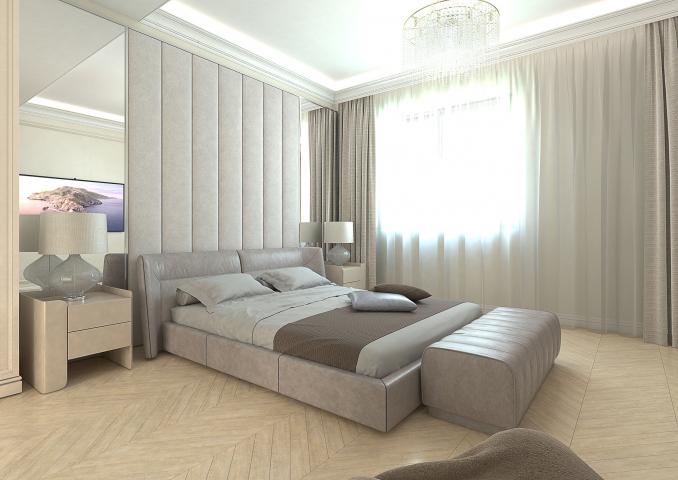 Визуализация интерьера спальни ул. Мосфильмовская 55