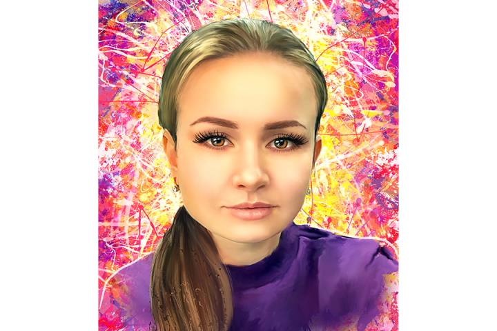 Портрет по фото в стиле дрим-арт