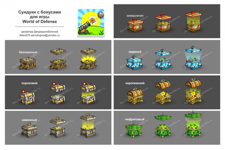 Игровые элементы для игры WoD