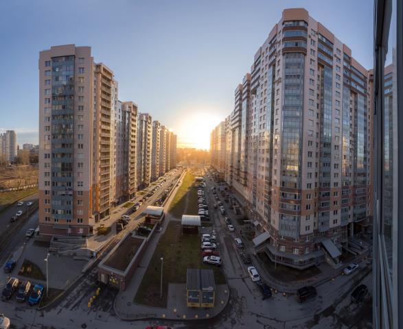 Фотосъемка жилого квартала в Санкт-Петербурге
