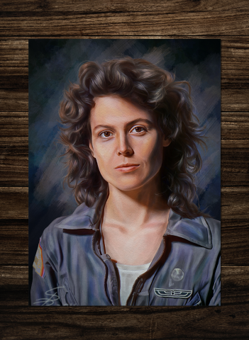 Ellen Ripley Alien movie Poster.