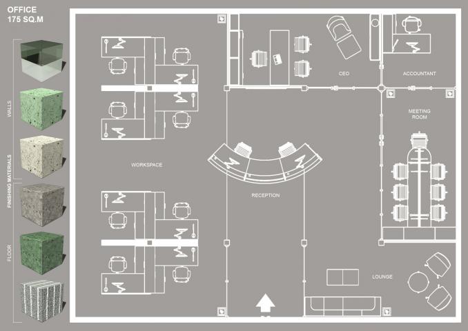 Дизайн офиса. 175 кв. м