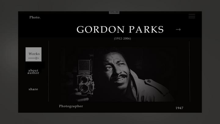 Сайт фотографа Gordon Parks