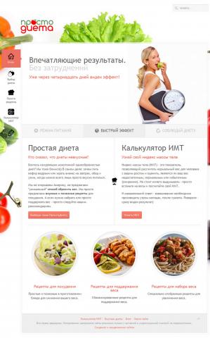 Создание каталога кулинарных рецептов для корректировки веса