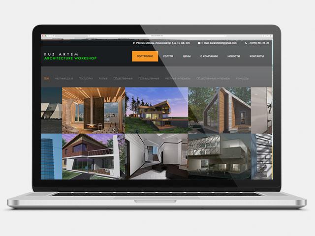 Сайт-портфолио, верстка макета и создание шаблона на Wordpress 4