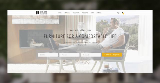 UMBRA – Landing Page по изготовлению эксклюзивной мебели