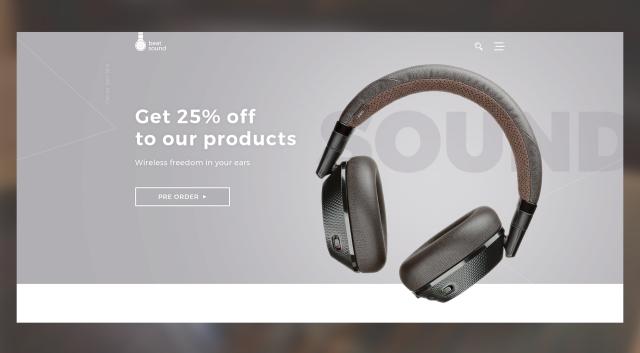 HEADPHONES – Landing Page по продаже наушников